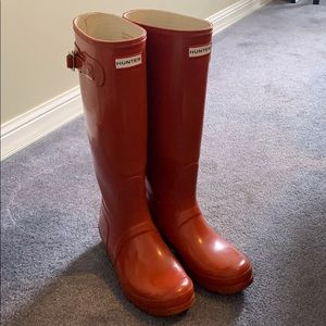 Red Hunter Boots 9W